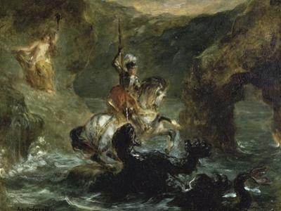 St. George Combattant Le Dragon by Eugene Delacroix