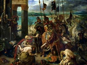 The Crusaders' Entry into Constantinople, 12th April 1204, 1840 by Eugene Delacroix