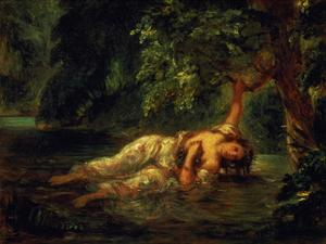 The Death of Ophelia, 1844 by Eugene Delacroix