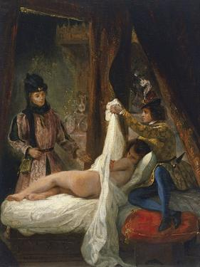 The Duke of Orléans Showing His Lover, C. 1826 by Eugene Delacroix