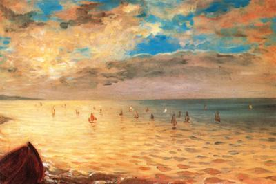The Sea at Dieppe by Eugene Delacroix