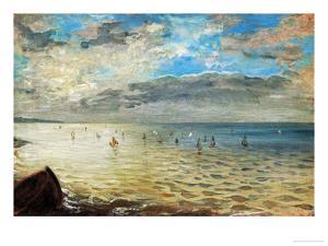 The Sea Seen from Dieppe, Ca by Eugene Delacroix