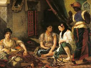 The Women of Algiers in Their Apartment, 1834 by Eugene Delacroix