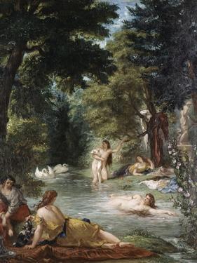 Turkish Women Bathing by Eugene Delacroix