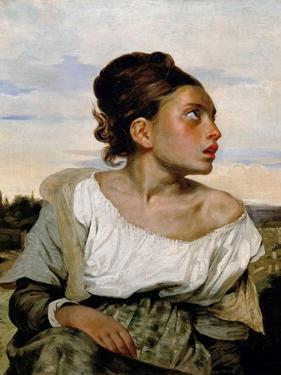 Young Orphan Girl in the Cemetery by Eugene Delacroix