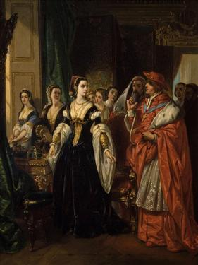 Divorce of Henry Viii and Catherine of Aragon before Cardinal of Wolsey Ca. 1530 by Eugene Deveria