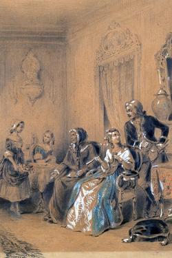 Indoor Scene, C1815-1865 by Eugene Deveria