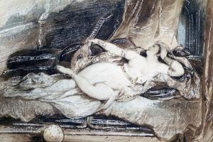 Odalisque Couchee, C1815-1865 by Eugene Deveria