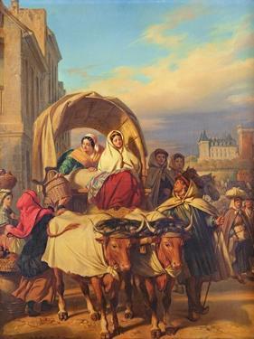 Returning to the Pau Market, 1860 by Eugene Deveria