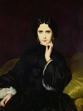 Portrait of Jeanne De Tourbay (1837-1908) 1862 by Eugene Emmanuel Amaury-Duval