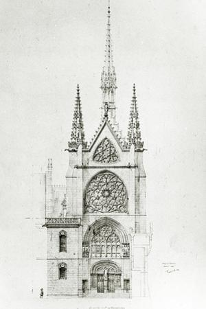 Drawing for the Restoration of the Chapel, Château De Pierrefonds, 1864