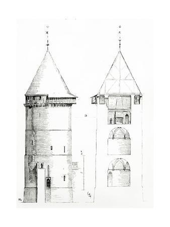 Drawing from 'Dictionnaire Raisonné De L'Architecture Française Du XIe Au XVIe Siècle', 1861