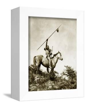 The Challenge (Yakama Warrior on Horseback, 1911) by Eugene Everett Lavalleur and L^V^ McWhorter