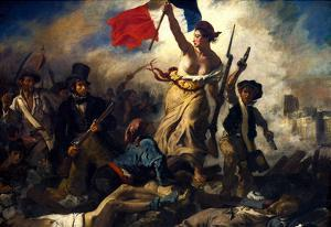 Eugene Ferdinand Victor Delacroix (Liberty Leading the People) Art Poster Print