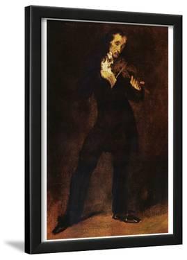 Eugène Ferdinand Victor Delacroix (Portrait of Paganini) Art Poster Print