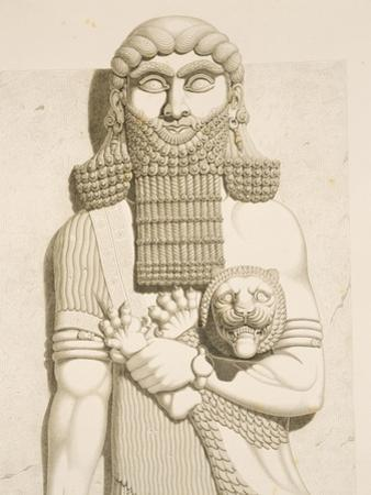 Relief Depicting a Man and a Lion