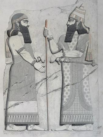 Sculptures on Facade of Imperial Palace of Nineveh, 1849