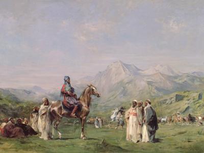 An Encampment in the Atlas Mountains, C.1865