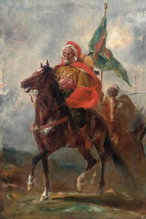 An Orientalist Chieftain on Horseback, 1863