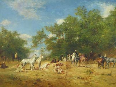 Arab Horsemen Resting in the Forest, 1868