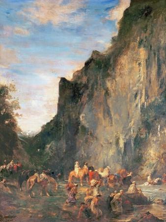 Arabs Fording a Mountain Stream