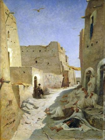 The Bab-El-Gharbi Road, Laghouat, 1859
