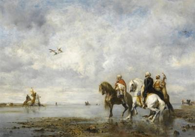 The Heron Hunt by Eugène Fromentin
