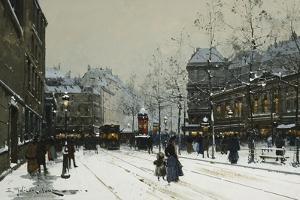 Gare Du Nord, Paris by Eugene Galien-Laloue