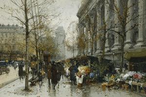 La Madelaine, Paris by Eugene Galien-Laloue