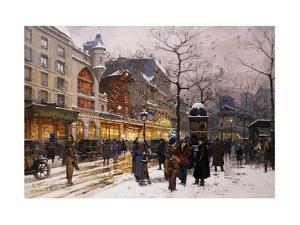 Matinee au Moulin Rouge, Paris. by Eugene Galien-Laloue