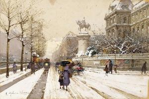 Paris in Winter by Eugene Galien-Laloue