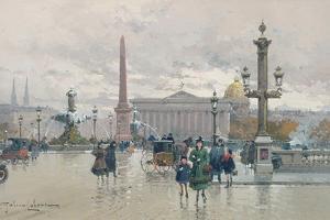 Place De La Concorde by Eugene Galien-Laloue