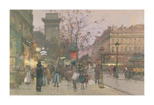 Porte Saint-Denis by Eugene Galien Laloue