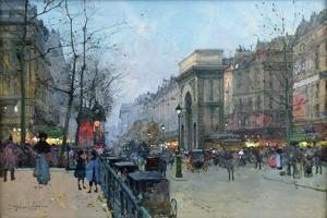Porte Saint-Martin by Eugene Galien-Laloue
