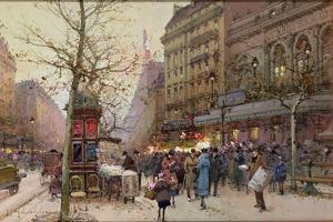 The Great Boulevards by Eugene Galien-Laloue