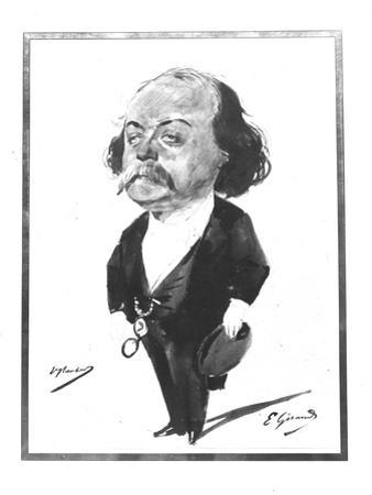 Caricature of Gustave Flaubert, 1867