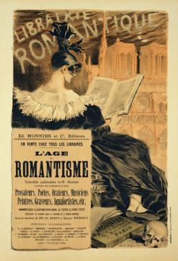 Reproduction of a Poster Advertising a Book Entitled The Romantic Age, 1887 by Eugene Grasset