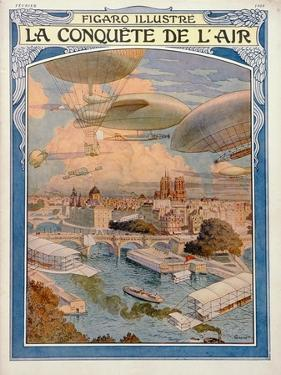 The Conquest of the Air, 1909 by Eugene Grasset