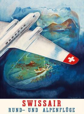Flights around the Alps (Rund-und Apenfluge) - Swissair by Eugene Häfelfinger