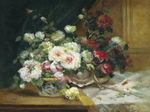 Bowl of Roses by Eugene Henri Cauchois
