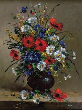 Poppies and Daisies by Eugene Henri Cauchois