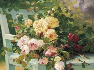 Romantic Roses by Eugene Henri Cauchois