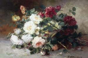Still Life of Roses by Eugene Henri Cauchois