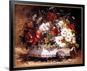 Still Life of Spring Flowers by Eugene Henri Cauchois