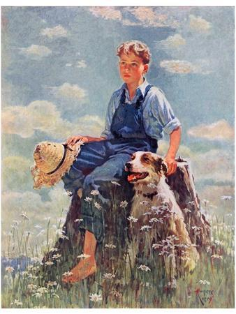 """""""Boy and Dog in Nature,""""June 11, 1932"""