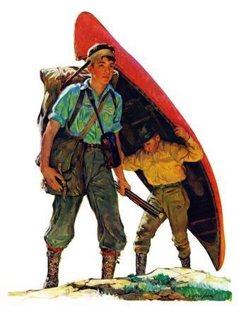 """Canoe Portage,""March 24, 1934"