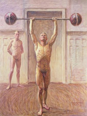 Pushing Weights with Two Arms Number 2, 1913