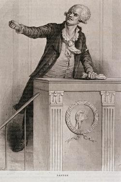 Portrait of Georges Jacques Danton (1759-94) by Eugene Joseph Viollat