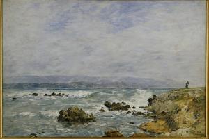 La Pointe De L'Ilette, Antibes, 1893 by Eugene Louis Boudin