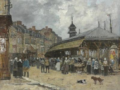 Market at Trouville; Marche a Trouville, 1878 by Eugene Louis Boudin